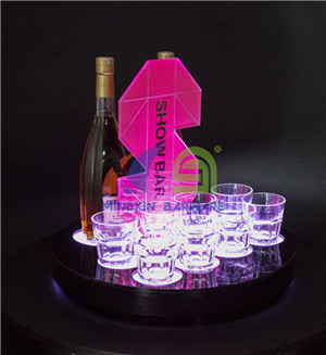 Whiskey Glass LED Serving Tray  LED Serving Tray for Whiskey  Serving Tray