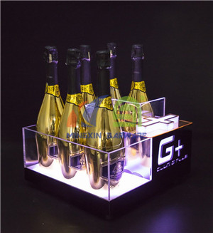 6 Bottles Champagne LED Ice Bucket with Gold Mirror  6 Bottles LED Ice Bucket wholesale