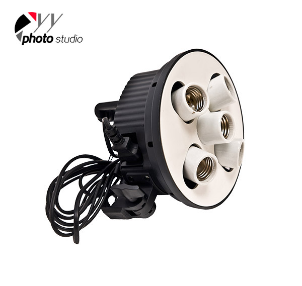Continuous 5 Heads Softbox Light Socket YL107,Studio Lightings