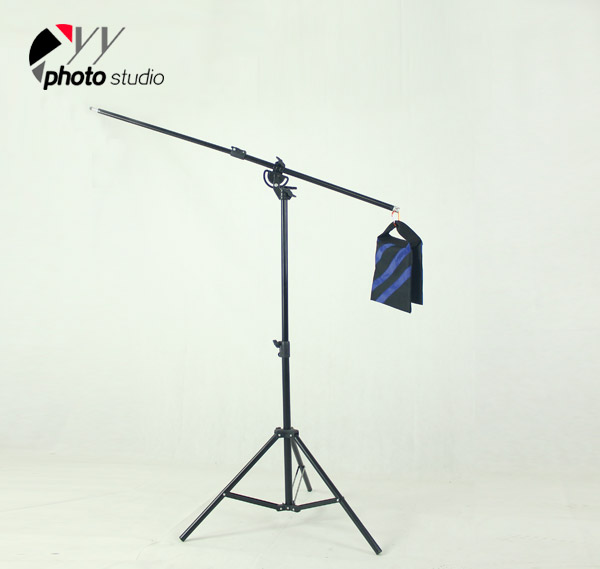 Heavy Duty 2-in-1 Rotatable Studio Boom Stand / Light Stand 12lb Load with Sandbag, BOOM KIT, Light Stands