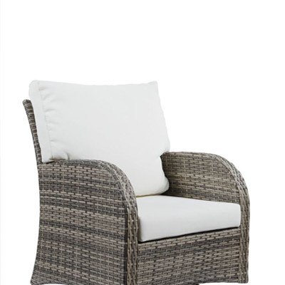 Outdoor Swivel Rattan Chair