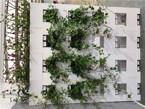 grass flower pot made for blocks grass block wall partition