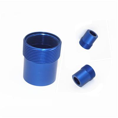 CNC Turning Parts Blue Anodized Customized Designs and Specifications Welcomed