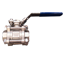3pc sus316 Ball Valve with high platform