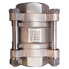 3pc SUS316 High Pressure Vertical Sring check valve