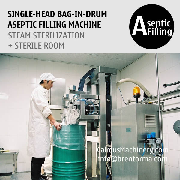 Single-head 200-220 Litre Bag in Drum Fruit Puree Paste Aseptic Filler