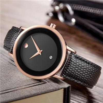Fashion Couple Watch With Leather Watchband