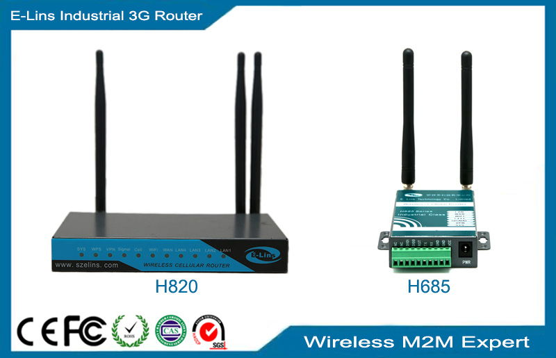WCDMA 3G WiFi Router, Broadband WiFi Wireless M2M HSDPA Router