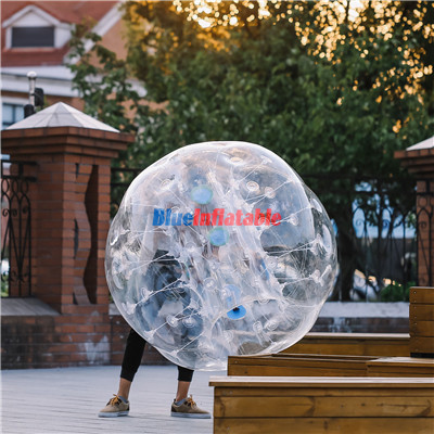 Transparent bubble Football Inflatable Lawn Football Suit