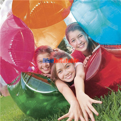 Big Outdoor Play Inflatable Bubble Soccer Multi Color bubble Ball