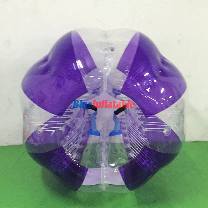Stripe Purple Coloured / Clear Bumper Ball Soccer