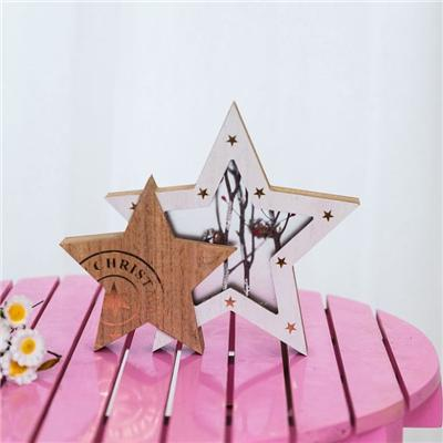 Wooden Tree And Star Decoration