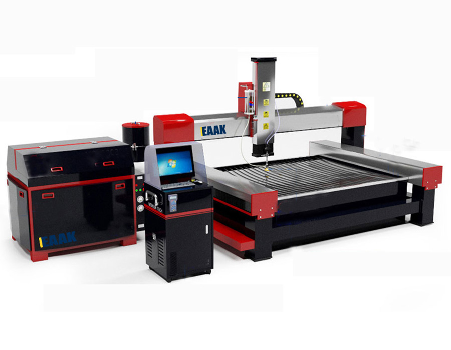 CNC water jet machine for metal cutting and glass cutting