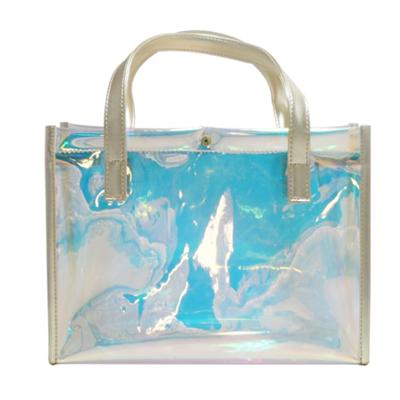 Handles Portable Holographic Cosmetic Bag