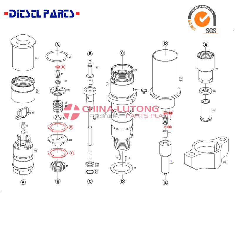common rail denso injector Common Rail Injector 6110701687 for Mercedes Benz