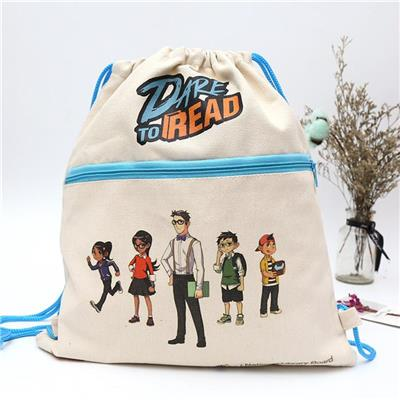 Custom Canvas Drawstring Bag