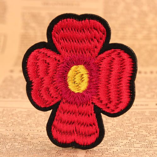 Red Flower Girl Scout Patches For Sale