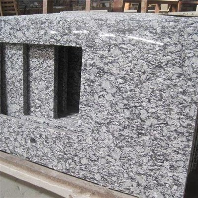 Spray White Granite Slabs