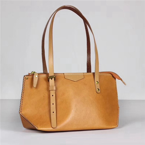 2020 original manufacturer plant tan leather high quality lady shopping bag