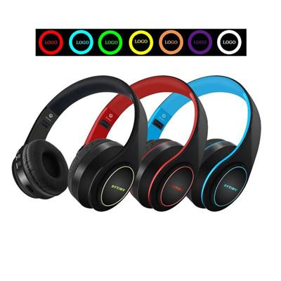 LED LOGO OEM Bluetooth Headphones