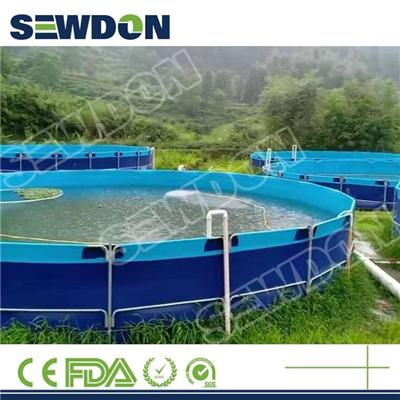 Flexible Above Ground Breeding Fish Farming Tank