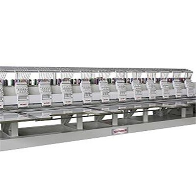 Operation Flat Embroidery Machine 12Heads 15Colors