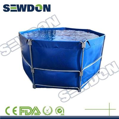 Polygon PVC Fabric Raising Catfish Farming Tanks