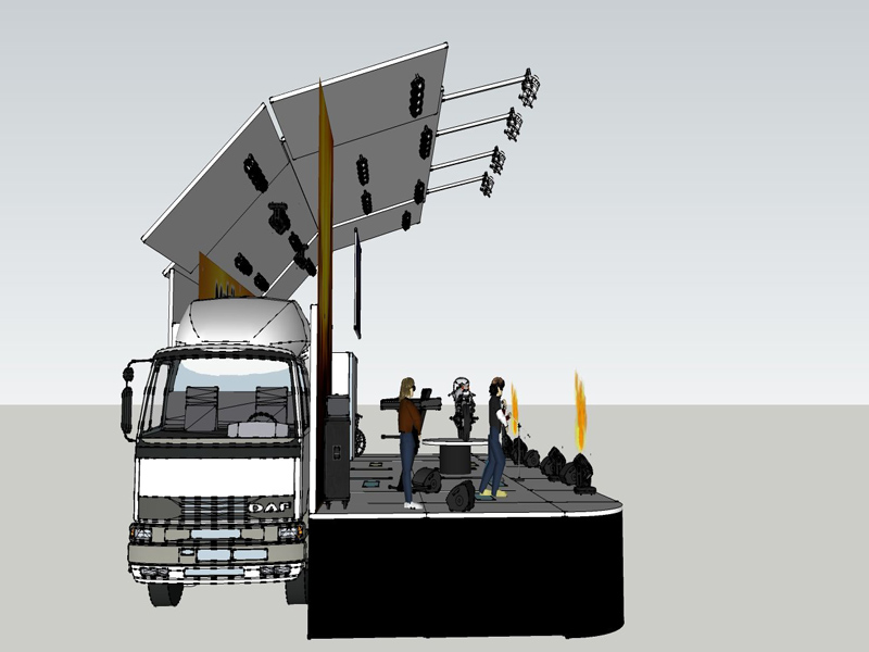 Mobile Stage Roadshow Trucks With LED Screen