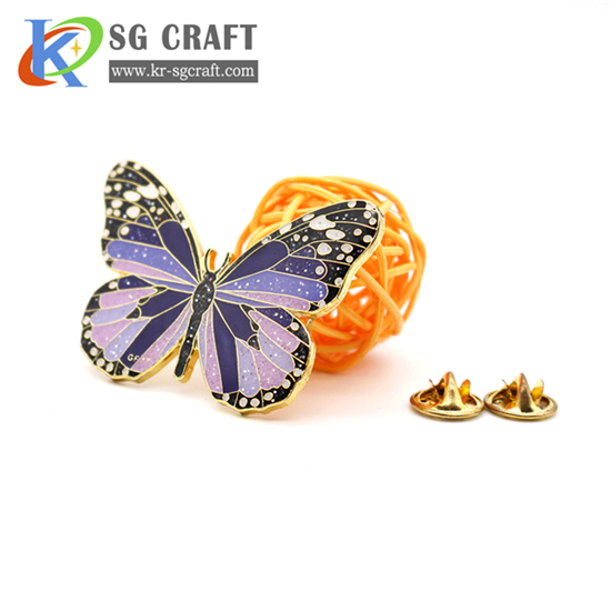 Custom butterfly badge