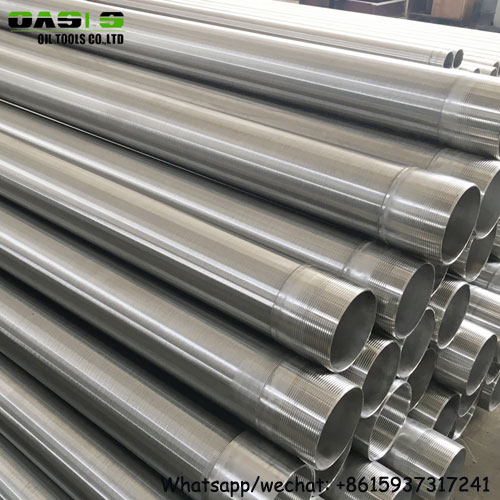 stainless steel 304 v wire water well screens/v wire wedge wire screen/water well casing pipe forages crepines