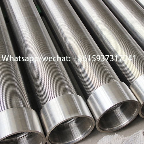 10inch wedge wire water well screen pipes with welded ring
