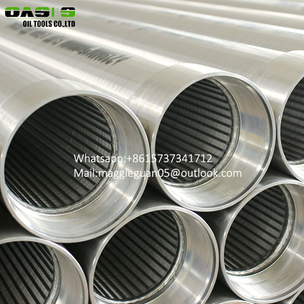 China manufacturer Stainless steel cage type V-wire wound screen pipes for water well