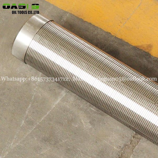 Manufacturer Galvanized 168mm 6 5/8inch water well screen filter wedge wire screen