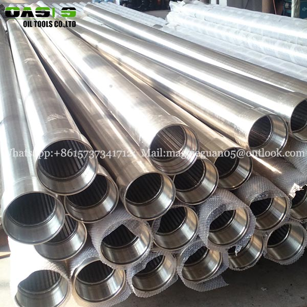 high open area Stainless steel slotted screen tube Cage type V-wire wound screens