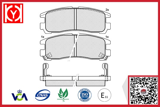 ALFA ROMEO brake,semi-metalic ALFA ROMEO brake pad set