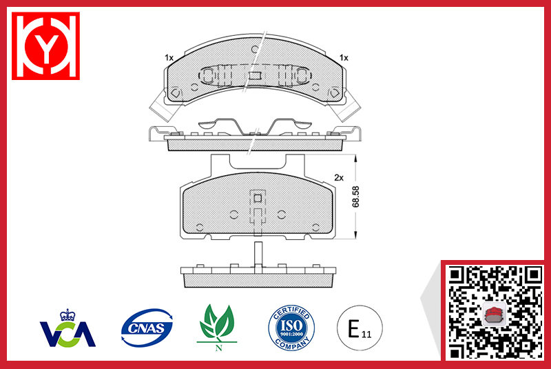 BUICK brake pad,brand brake pad set price