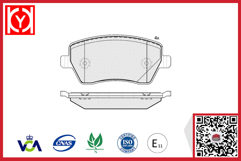 DACIA brake pad,e-mark brake pad set