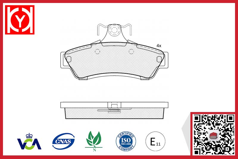 HOLDEN brake pad,e11 HOLDEN brake pad