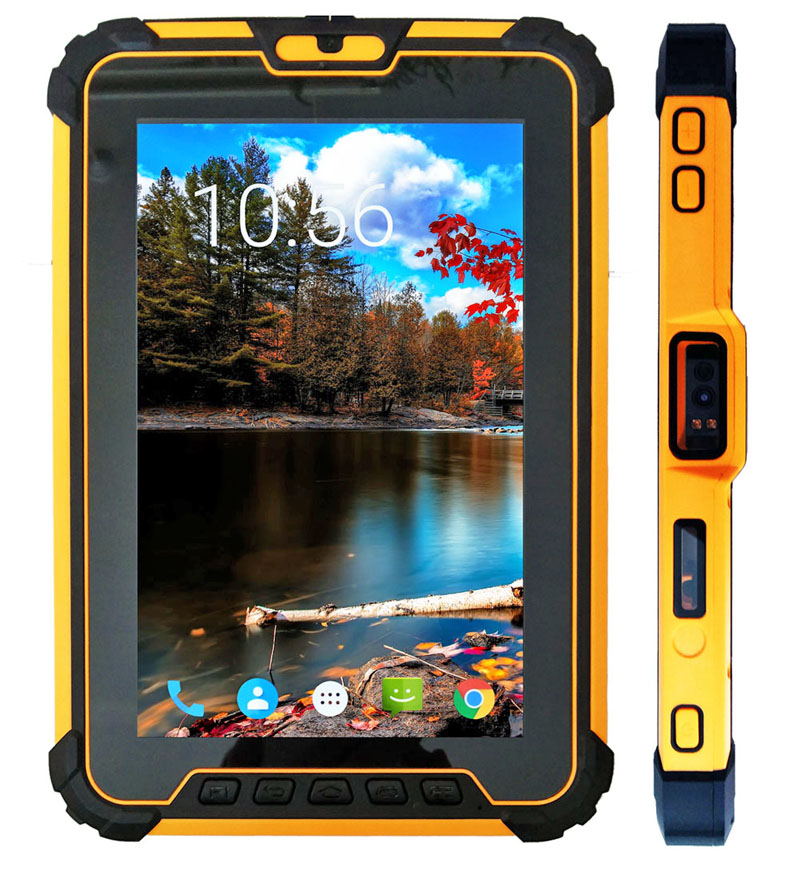 Cheapest Qualcomm MSM8953 8 inch Android rugged tablets 4G network IP67 waterproof tablet with NFC Barcode scanner