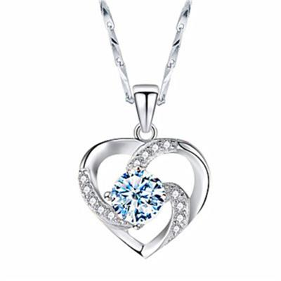 Women Sterling Silver Love Pendant Necklace