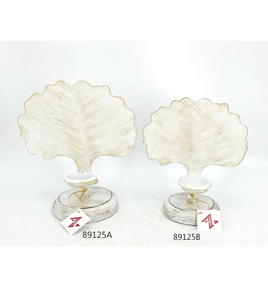 fashion metal hollow leaf shape candle holder for home decoration