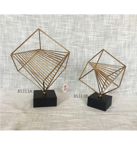 hot sale golden metal square home decoration