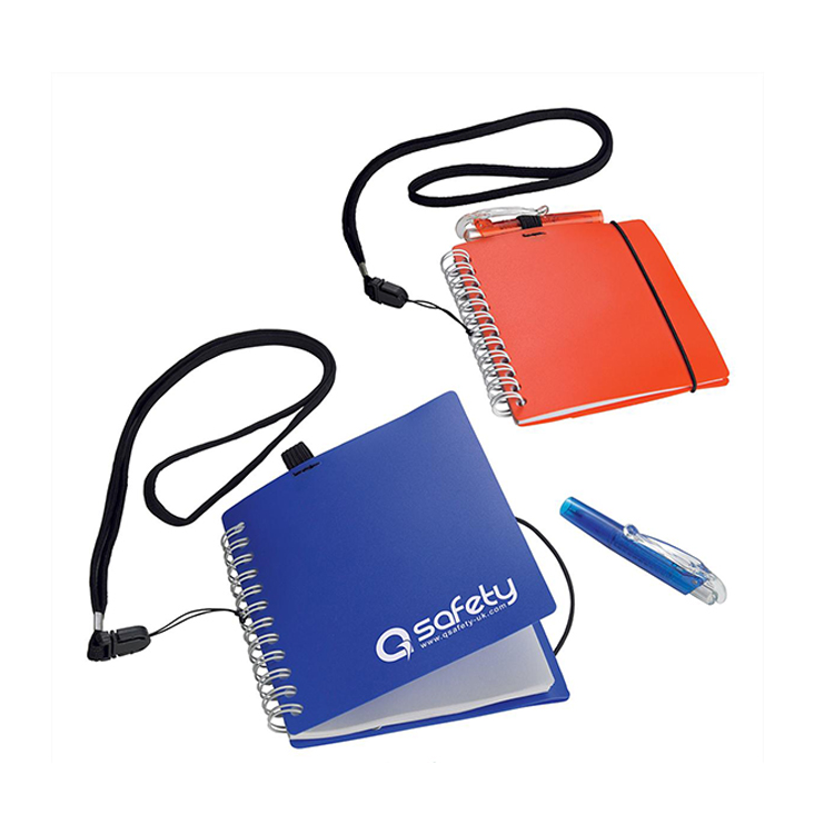 Pocket Sized Spiral Notebooks with Custom Print Lanyards