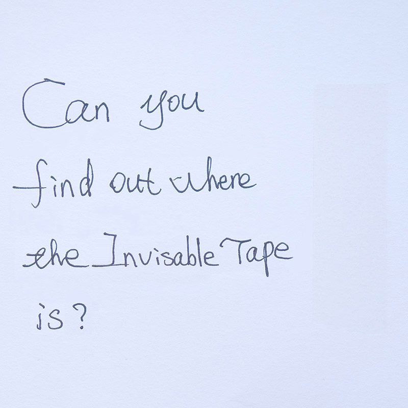 INVISIBLE TAPE, MAGIC TAPE, MENDING TAPE