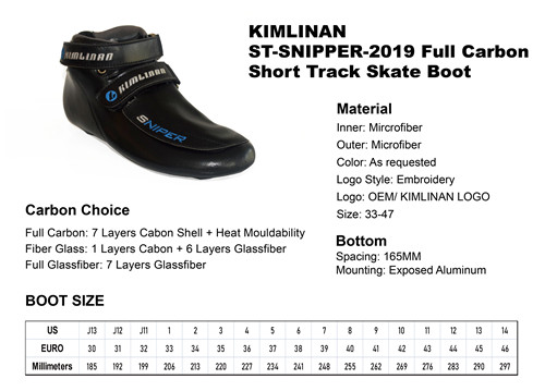 2020 KIMLINAN ST-SNIPPER-2019 Full Carbon Short Track Skate Boot manufacture