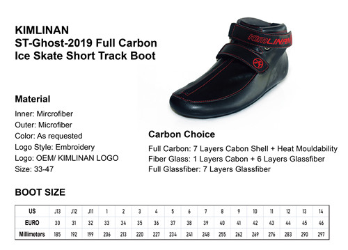 2020 high quality KIMLINAN ST-Ghost-2019 Full Carbon Ice Skate Short Track Boot