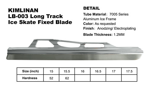 Top quality new arrived KIMLINAN LB-003 Long Track Ice Skate Fixed Blade