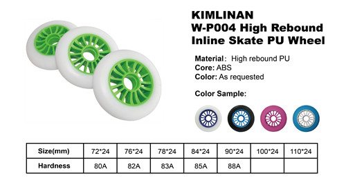 2020 China KIMLINAN W-P004 High Rebound Inline Skate PU Wheel