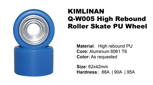 professional hot sale KIMLINAN Q-W005 High Rebound Roller Skate PU Wheel wholesale