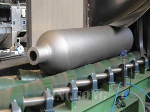 GAS CYLINDER SHOT BLASTING MACHINE